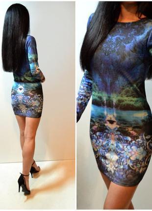 Облегающие платье с длинным рукавом