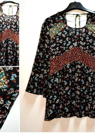 Оригинальная свободная блуза в цветочный принт zara