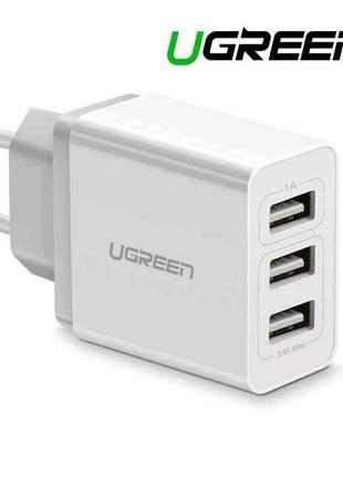 """""""UGREEN"""" Фирменное зарядное устройство. 3 порта."""