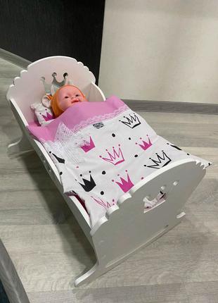 Кроватка для пупса, люлька для кукол