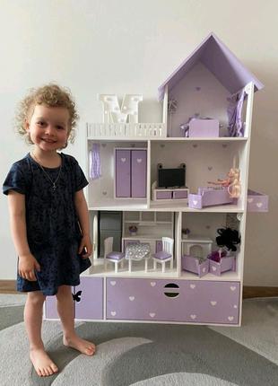 Кукольный домик, домик для кукол барби, детский игровой домик