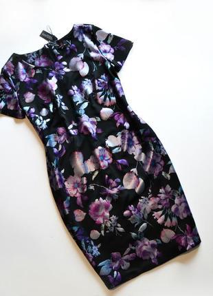 Красивое платье в цветочный принт