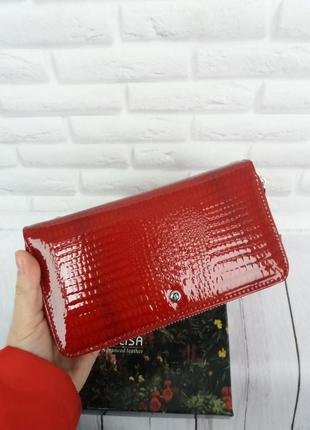 Большой кожаный кошелек шкіряний гаманець великий клатч кожаный
