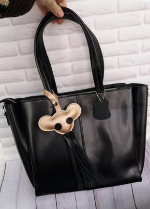 Женская кожаная сумка а4 жіноча шкіряна сумчока