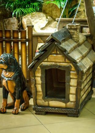 Теплая будка для средней собаки - Собачья будка дешево
