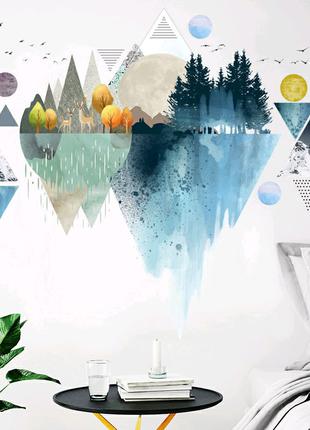 Виниловая наклейка Горный пейзаж