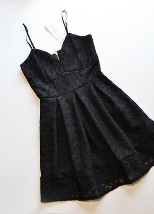 Стильное черное платье колокольчик