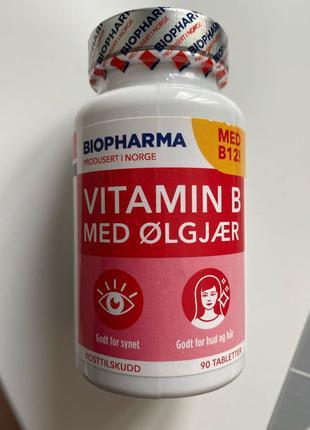🇳🇴Витамин В с пивными дрожжами Biopharma Норвегия