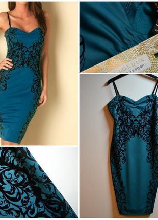 Шикарное облегающее платье в узоры от lipsy