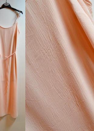 Длинное летнее шифоновое платье с пояском