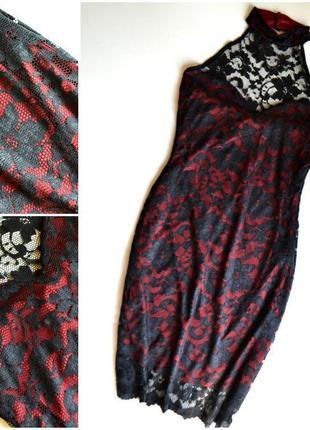 Новое черное платье кружевное