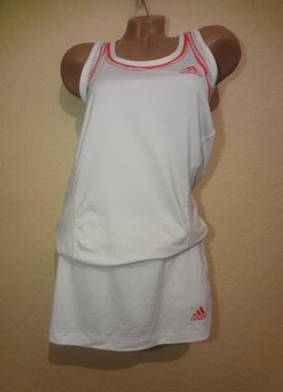 Набор для тенниса майка+юбка шортами adidas adipower размер м