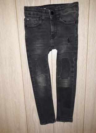 Стилёвые джинсы супер скины next на 6 лет