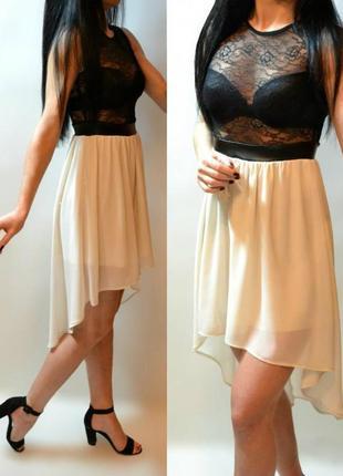 Новое платье с кружевным верхом