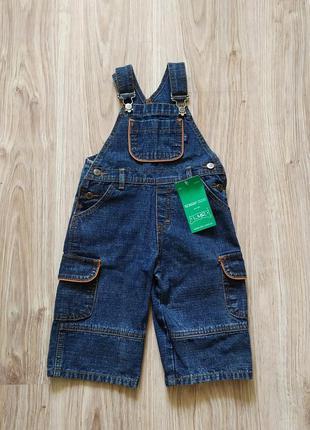 Новый джинсовый катоновый комбинезон, польша на мальчика