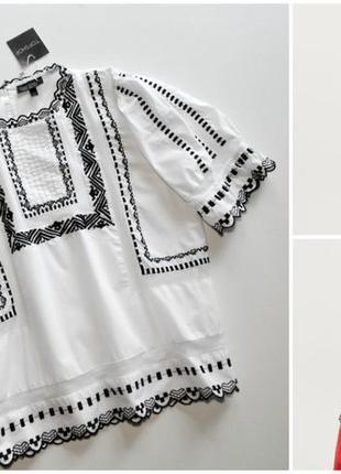Нежная белая блуза с вышивкой