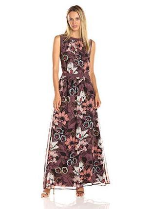 Шикарное платье с цветочным принтом в пол juicy couture