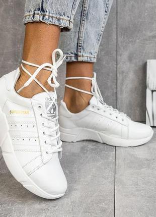 Прямой поставщик! натуральная кожа! кроссовки adidas