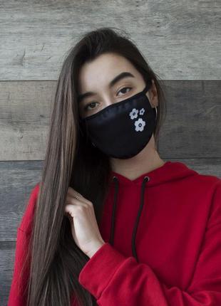 Многоразовые защитные маски с принтом