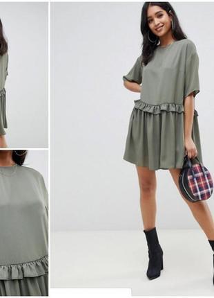 Стильное летнее свободное платье оверсайз от asos