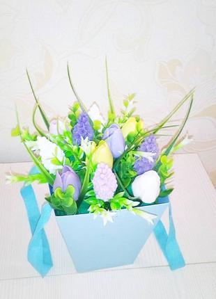Букет из мыла ручной работы / мыльный букет / цветы в коробке