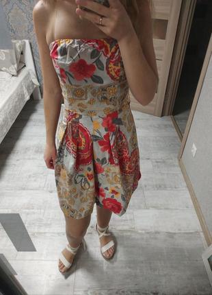 Красивое легкое платье миди хлопок