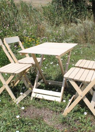 Складной набор стол +4 стула