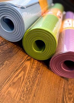 Фитнес коврик TPE 6мм / його мат / коврик для йоги
