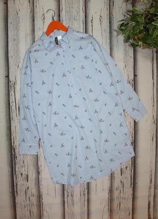 Платье рубашка в полоску h&m p. xs