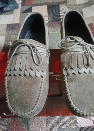Замшевые туфли LUCKY CHOICE. Размер: (39-40) 26 см по стельке.