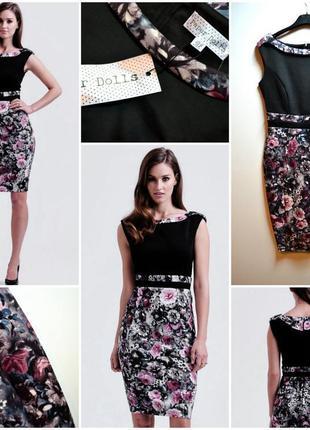Элегантное облегающее платье в цветах