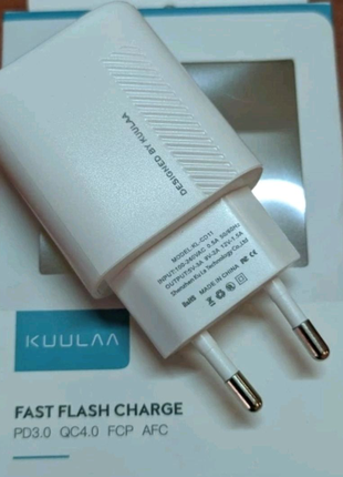KUULAA PD Зарядное устройство USB C 18 Вт QC 4,0