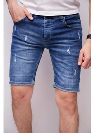 Шорты мужские джинсовые mc store  синие
