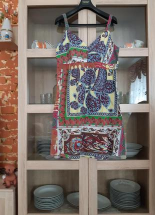 Легкое котоновое платье сарафан большого размера
