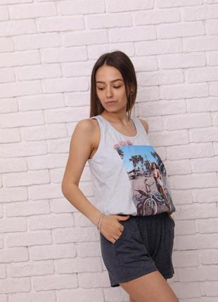 Пижама с шортами трикотажная