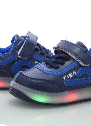 Мигающие светящиеся кроссовки для мальчика с супинатором