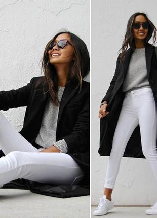 Белые джинсы с высокой посадкой marks & spencer