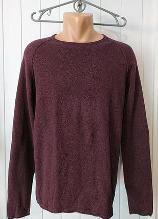 Натуральний  мужской свитер пуловерь