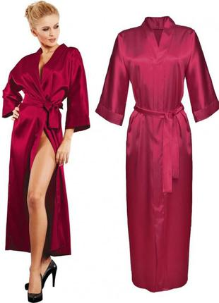 130 dkaren атласный женский длинный халат на поясе в красивой ...