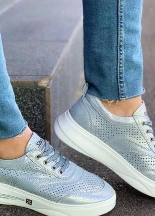 Кожаные кроссовки 🔥