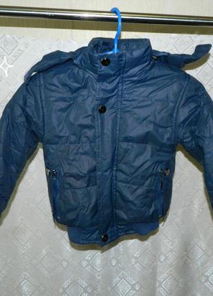 Куртка детская зимняя на мальчика 4-5 лет