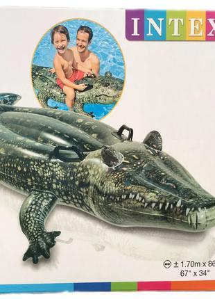 """Детский надувной плотик Intex 57551 """"Крокодил"""", 86 на 170 см"""