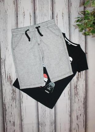 Легкие шорты лён h&m на 11-12 лет, 152 рост.