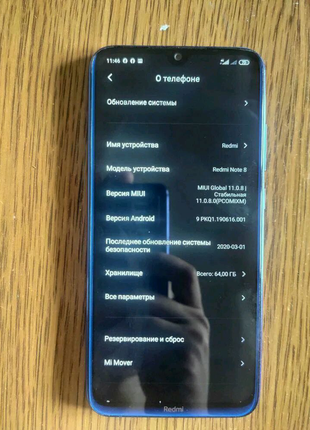 Продам Xiaomi  Redmi Note 8 4/64
