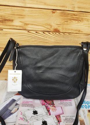 Женская кожаная итальянская сумка через плечо vera pelle итали...