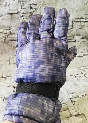 Теплые перчатки, плащевка с толстым слоем синтепона, под лыжные