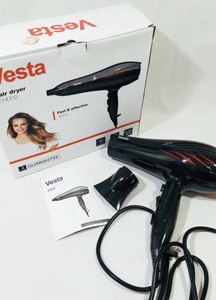 Фен для волос Vesta EHD02 1600W из ЕС