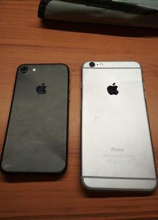 Два iPhone 6 Plus и iPhone 7 на запчасти