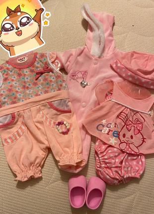Набор одежды для Baby Born Беби Борн 3 костюмчика, обувь
