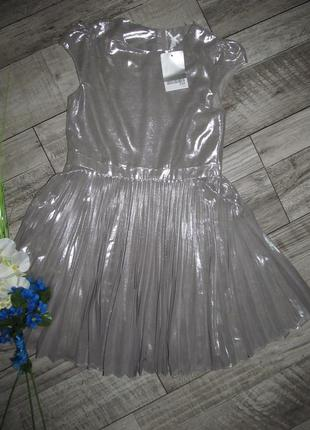 Платье плиссе  next на 7 лет -122см